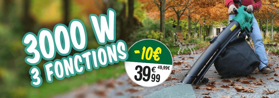 -10€ sur l'aspirateur souffleur à 39.99€ au lieu de 49.99€ !