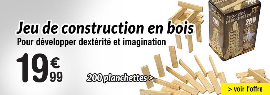 Les planchettes en bois, un jeu de construction indémodable !