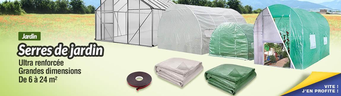 Toutes les serres de jardin de 6 à 24 m² !