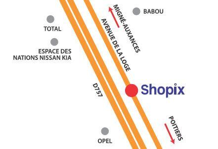 Simple accs au magasin shopix outillage de prs de poitiers with babou saint etienne for Cimaises castorama