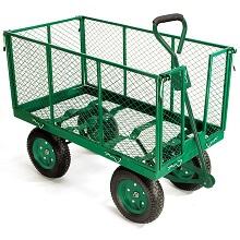 Chariot remorque de jardin en métal capacité 300 kg