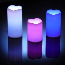 3 bougies LED couleurs changeantes