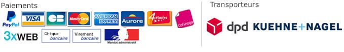 Transporteurs et moyens de paiement proposés sur Shopix.fr