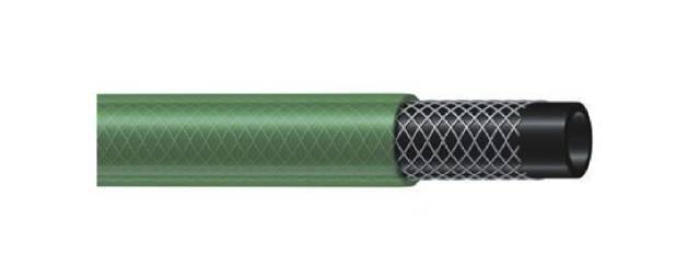 Tuyau d'arrosage guipé vert disponible en 15, 20 et 50 mètres et diamètre 15 mm ou 19 mm